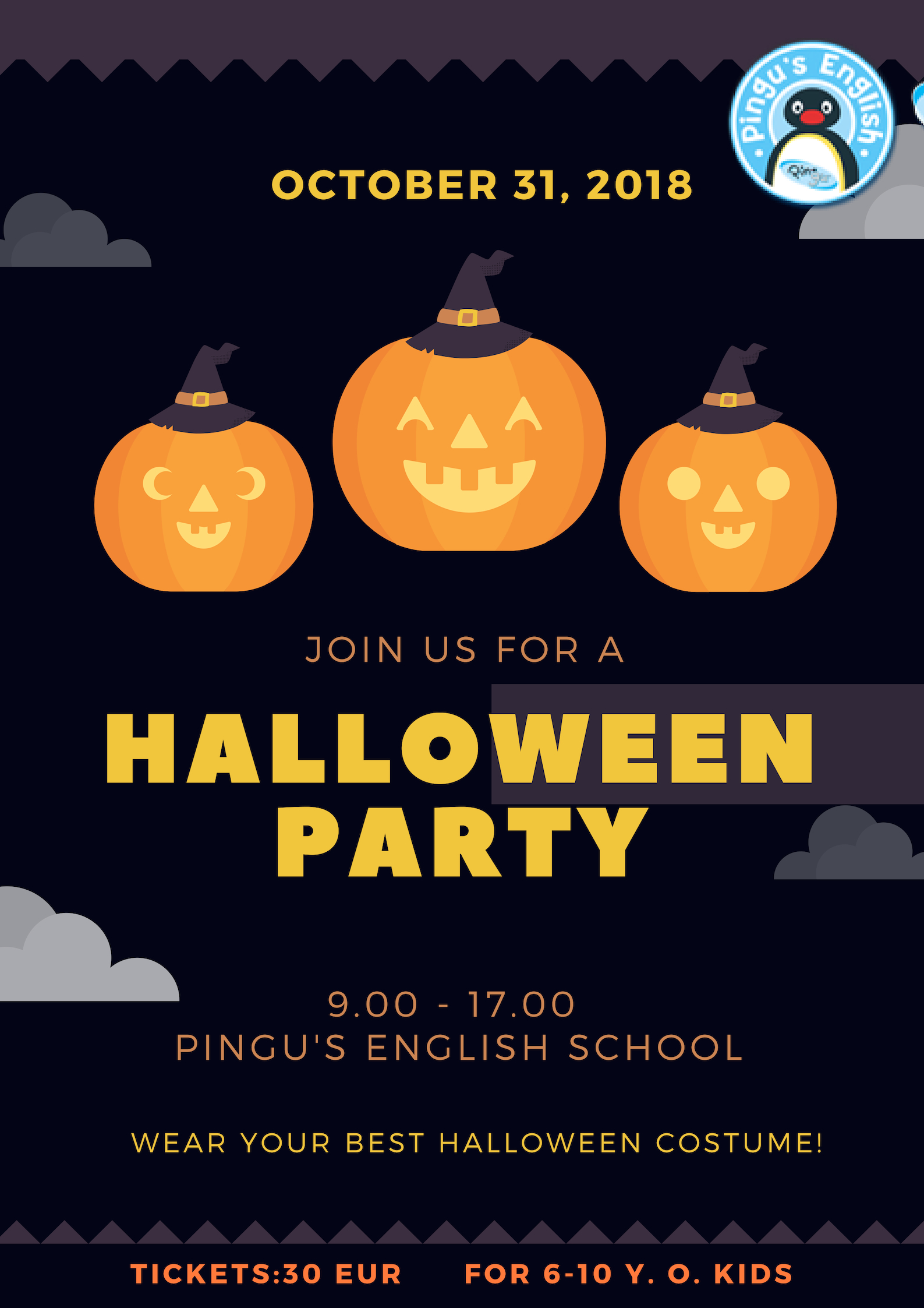 Halloween Of Halloween.Halloween Party In Vilnius 31 St October Pingusenglish Lt